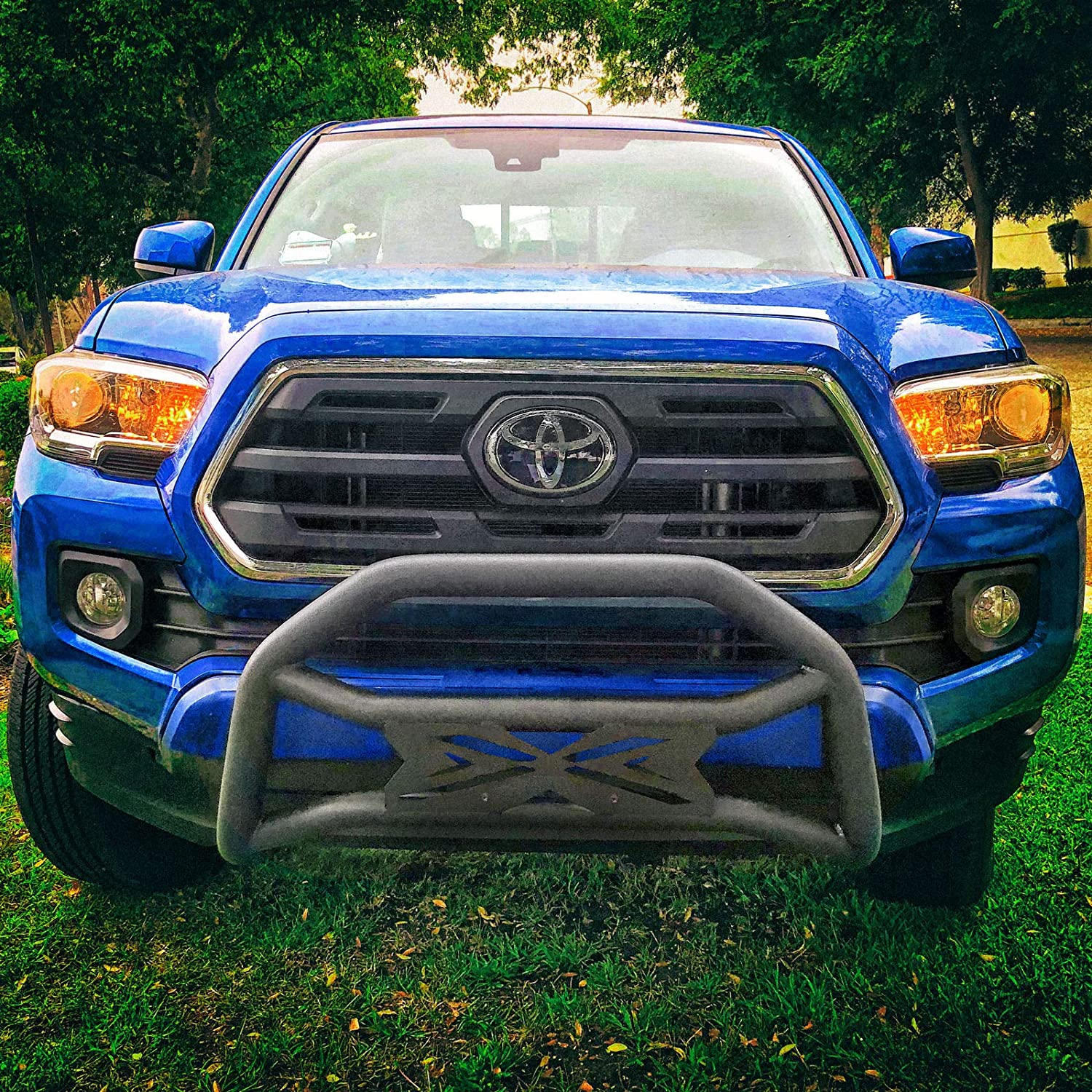 Ajaa 2005-2019 Fit Toyota Tacoma Bull Bar Front Bumper Guard US Flag Style
