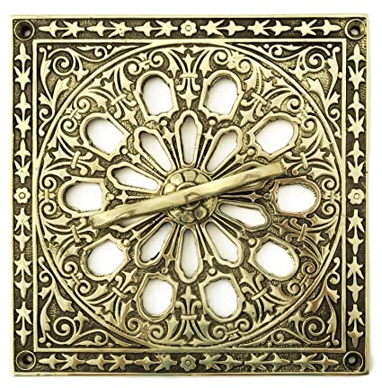 Solid Brass Air Vent Cover with adjustable 'Hit and Miss