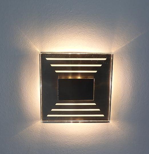 Trango TGSL-013 - Lámpara led de diseño de pared para iluminación de escaleras, IP44, 230 V, 3000 K, blanco cálido: Amazon.es: Iluminación