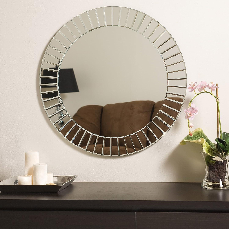 Amazon.com: Decor Wonderland The Glow Modern Frameless Wall Mirror: Home U0026  Kitchen