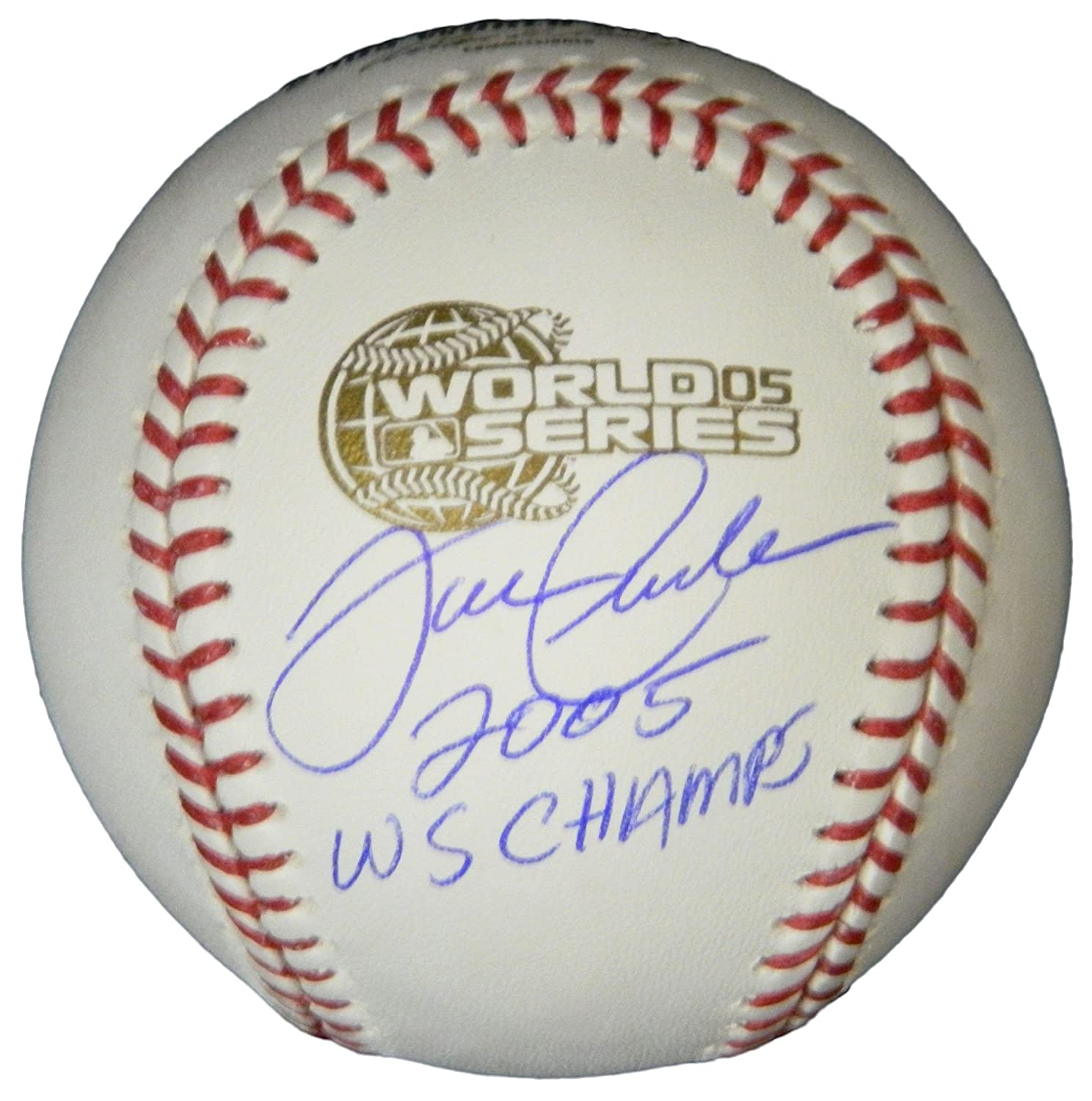 Joe Crede Signed Rawlings Official 2005 World Series Baseball w/2005 WS Champs