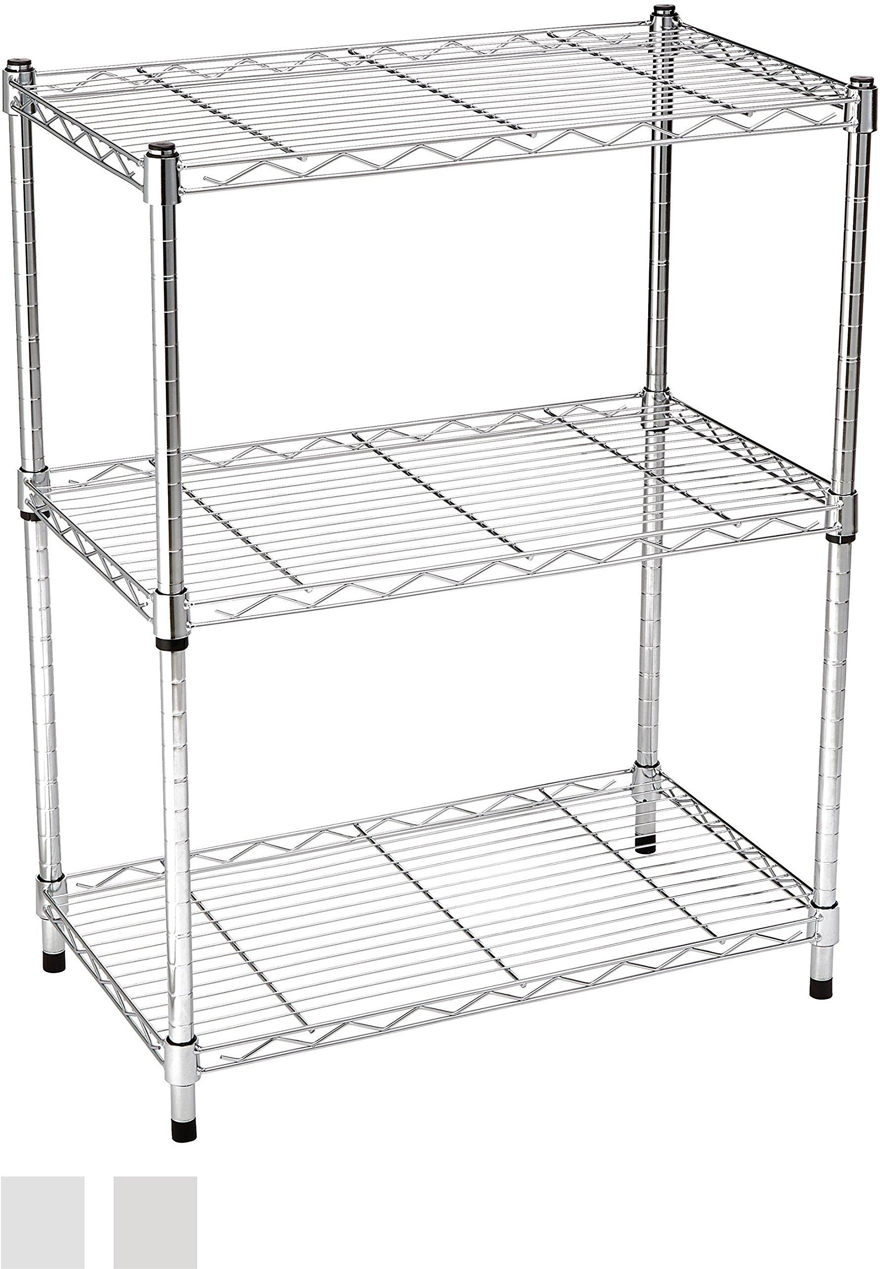 AmazonBasics 5-Shelf Shelving Unit – Black 91JjZizaQLL