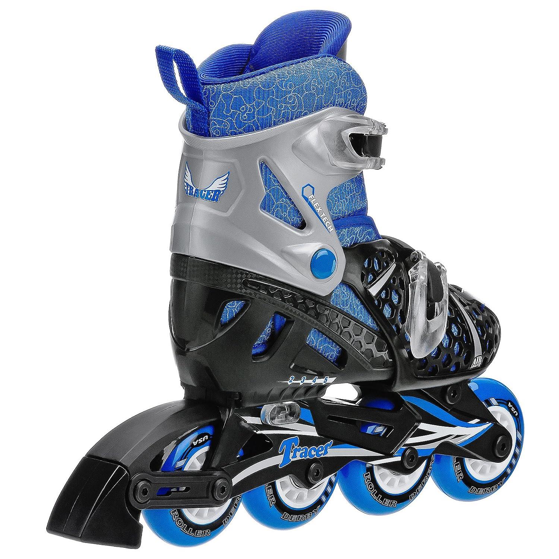 Roller skates adjustable - Amazon Com Roller Derby Boy S Tracer Adjustable Inline Skate Childrens Inline Skates Sports Outdoors