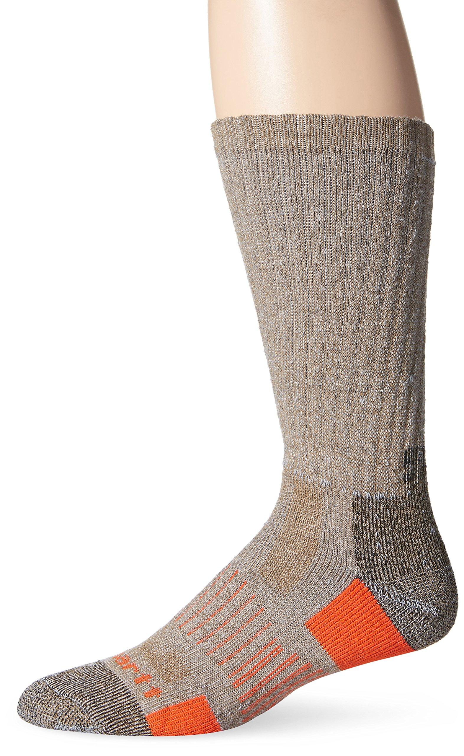 Carhartt Men's 2 Pack All-Terrain Boot Socks, Brown, Sock Size:10-13/Shoe Size: 6-12