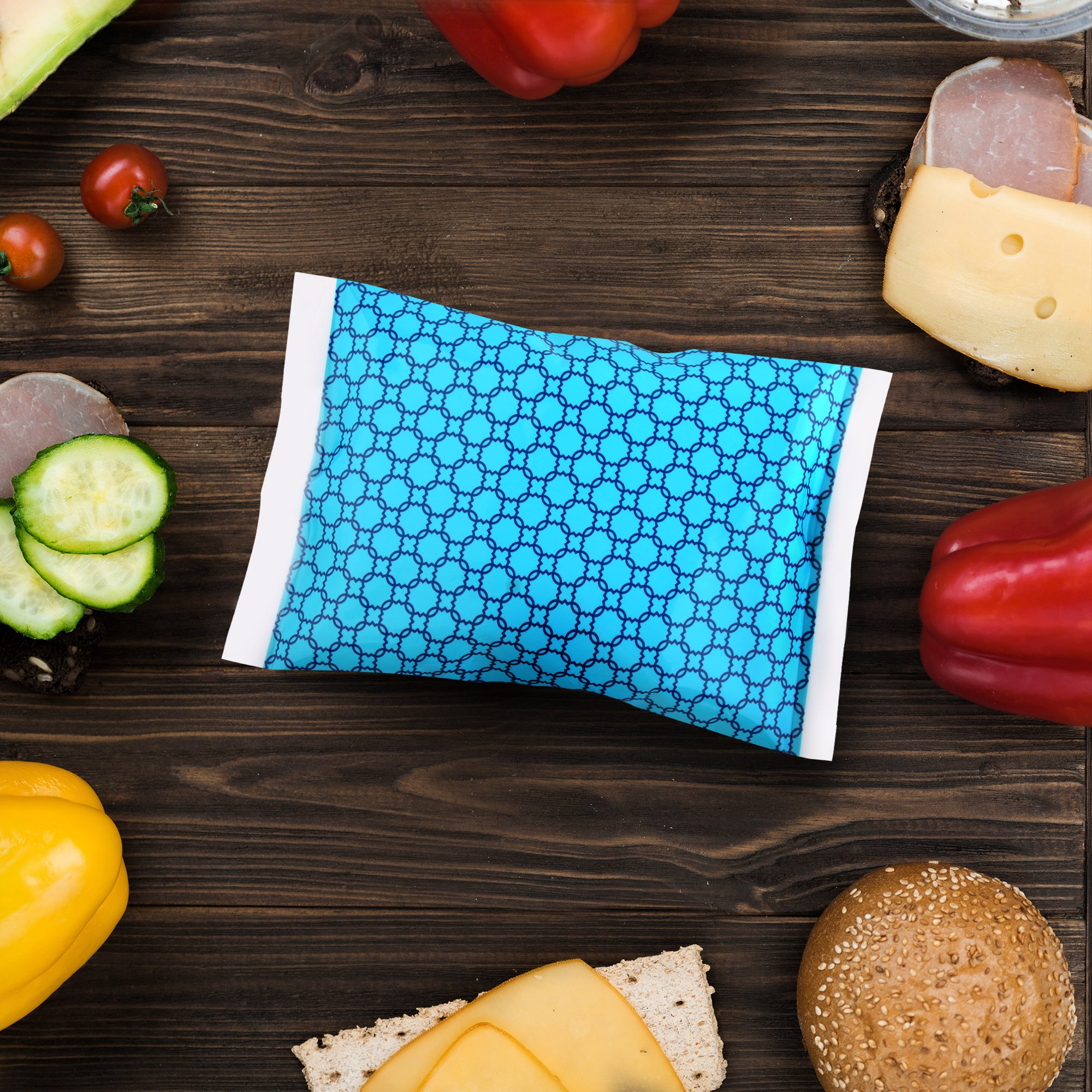 Ice Pack for Lunch Boxes - 4 Reusable Packs - Keeps Food Cold – Cool Print Bag Designs - Great for Kids or Adults Lunchbox and Cooler by Thrive (Image #7)