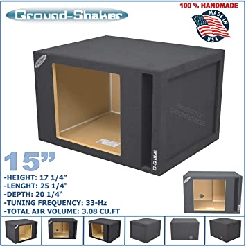 Amazon 15 single vented slot ported solobaric sub box for 15quot single vented slot ported solobaric sub box for kicker l7 l5 l3 subwoofer enclosure publicscrutiny Choice Image