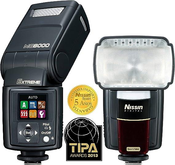 Nissin MG 8000 Extreme + PS 8 - Flash para Nikon, Negro: Amazon.es: Electrónica