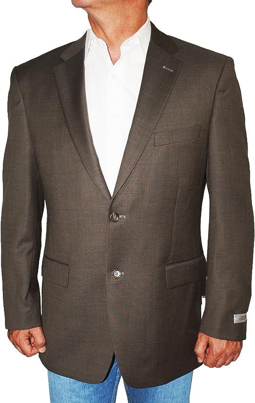 Jones New York Classic Fit Navy Blue Textured Two Button 100/% Wool Blazer