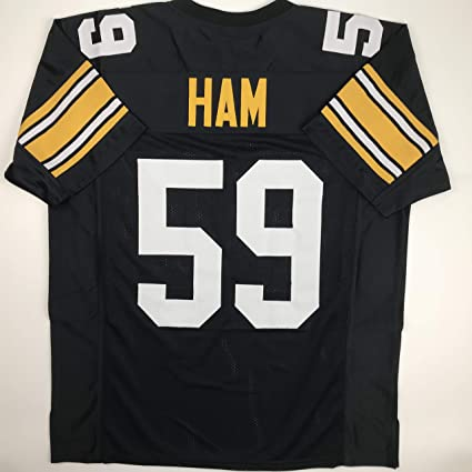 9bfc90313 Unsigned Jack Ham Pittsburgh Black Custom Stitched Football Jersey Size  Men's XL New No Brands/