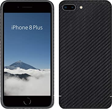 VIVERSIS Funda de Carbono Real para iPhone 8 Plus, Negro Mate ...