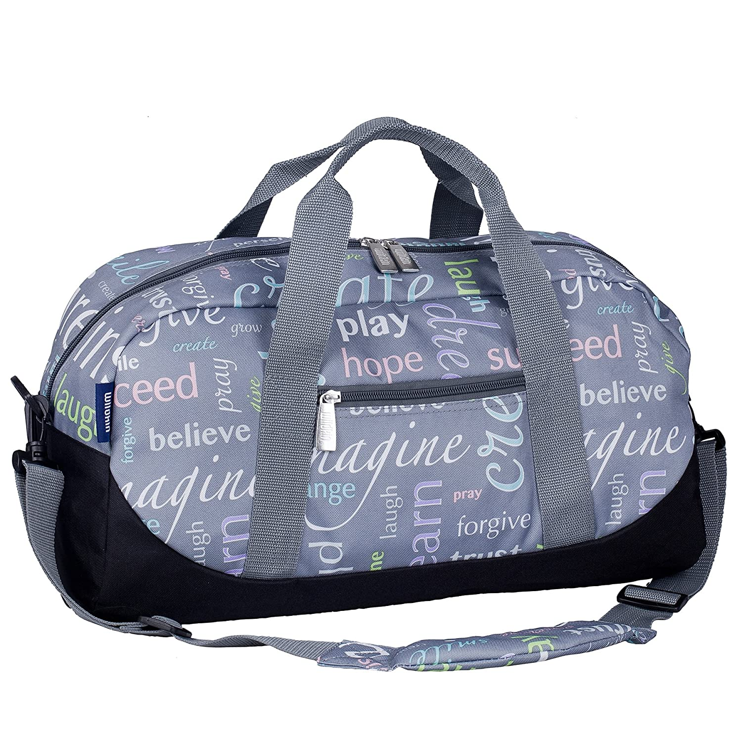 Wildkin Overnighter Duffel Bag, Features Moisture-Resistant Lining and Padded Shoulder Strap, Perfect for Sleepovers, Sports Practice, and Travel – Horse Dreams 25025