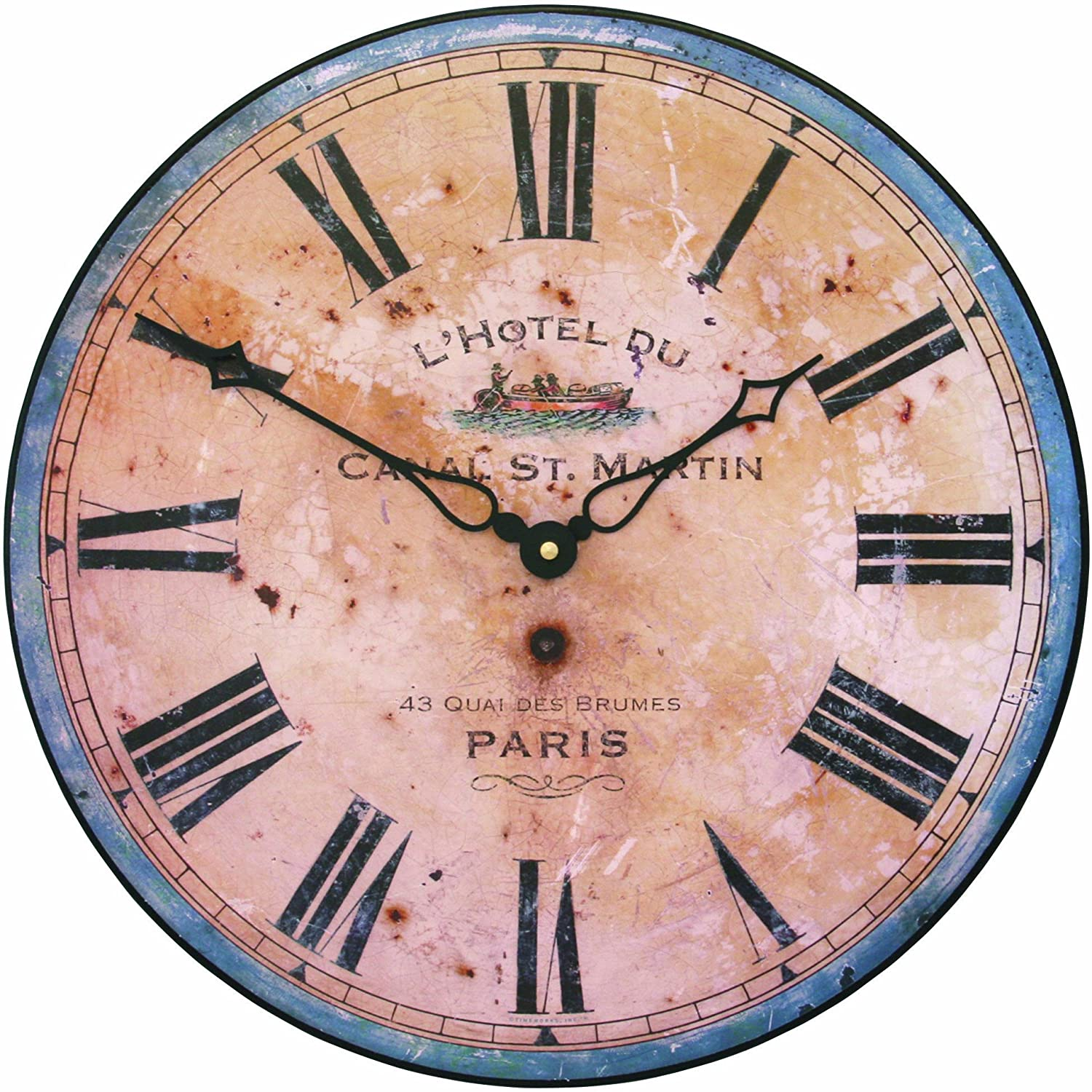 Amazon.com: Roger Lascelles French Hotel Design Wall Clock, 14.2 ...