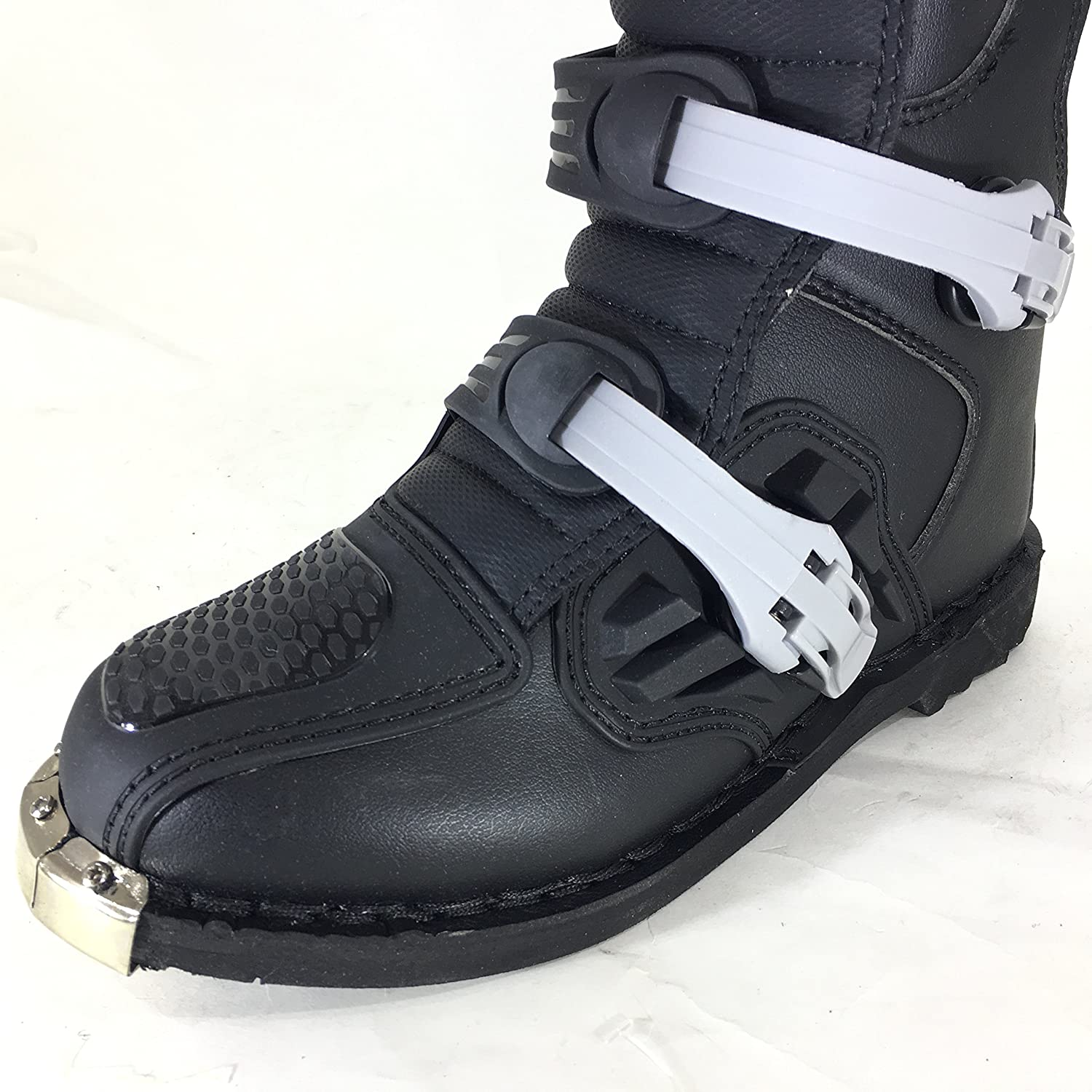 WULFSPORT Track Star Fibra Botas DE Motocross MX Adultos Quad Carreras Enduro Deportes Protection Boots Negro EU 43//UK 9