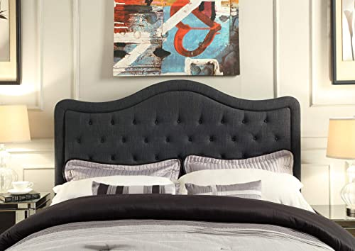 Rosevera Turin Tufted Upholstered Headboard, King, Charcoal