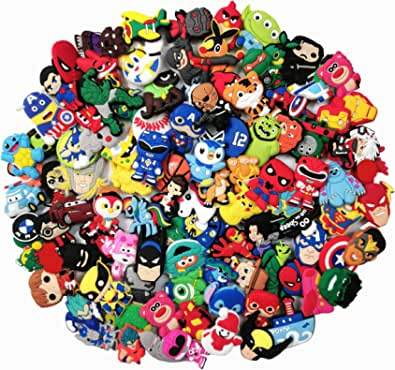 100 PVC Different Boys Shoe Charms for Crocs and Jibbitz Bands Bracelet Wristband