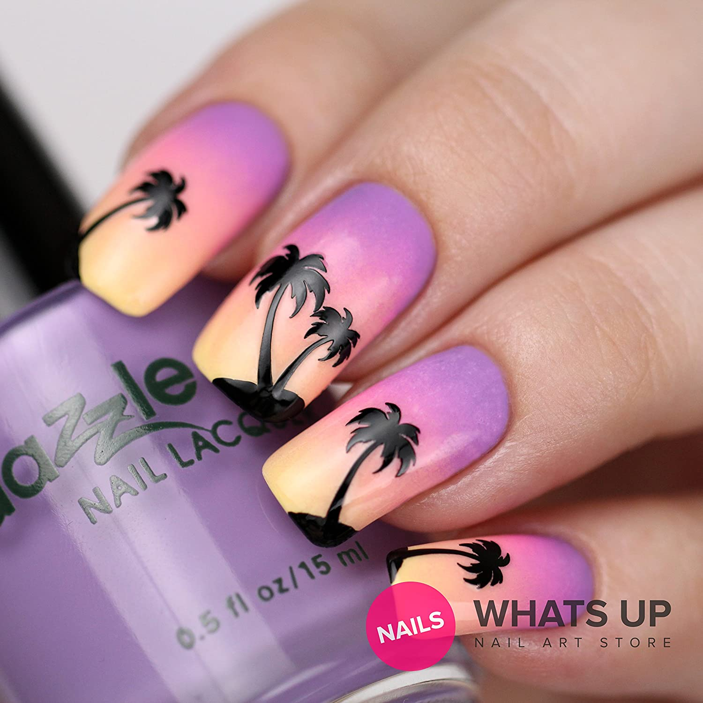 Amazon.com : Whats Up Nails - Palm Nail Vinyl Stencils for Nail Art ...