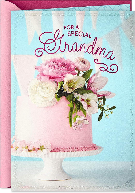 Swell Amazon Com Hallmark Birthday Card For Grandma Birthday Cake Funny Birthday Cards Online Chimdamsfinfo