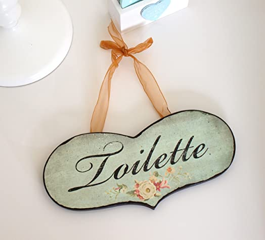 Bathroom Toilet Door Sign   Rustic Shabby Chic Distressed Style Wooden  Hanging Toilet Loo. Bathroom Toilet Door Sign   Rustic Shabby Chic Distressed Style