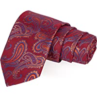 Peluche Slick Maroon, Orange & Blue Colored Microfiber Necktie for Men