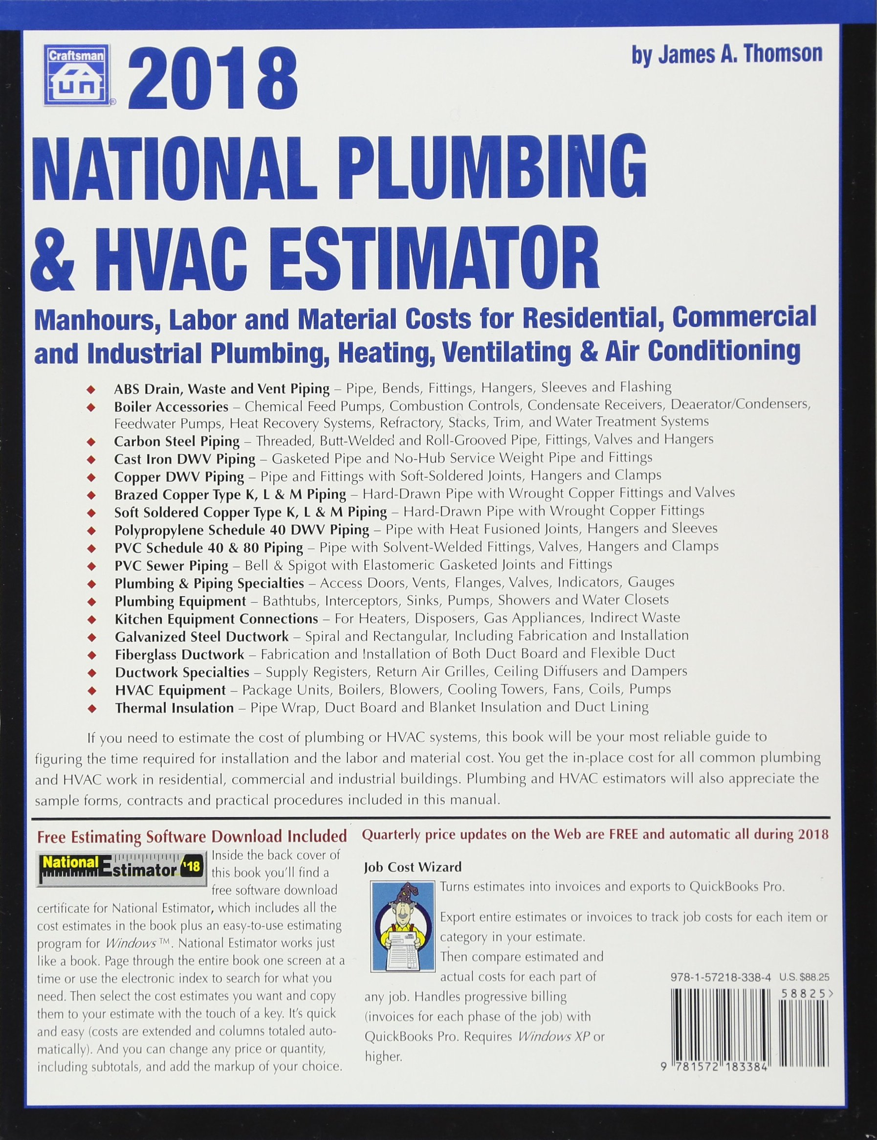 2018 National Plumbing & HVAC Estimator: James A Thomson