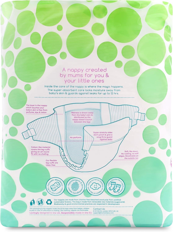 Mum /& You Pa/ñales ecol/ógicos Nappychat 3 Paquete con tecnolog/ía Smart Tube para lograr una protecci/ón extra frente a las fugas Talla 2 132 pa/ñales Hipoalerg/énicos y probados dermatol/ógicamente