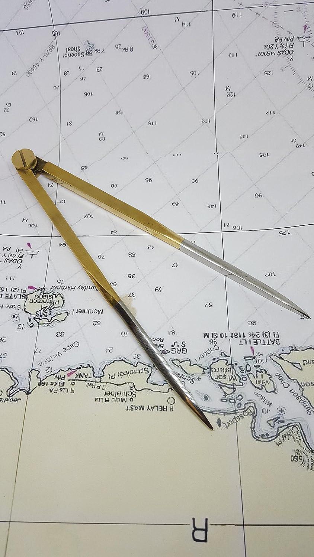 Ferocious Viking Products Divisor de navegación de latón con ...