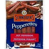 Schneiders Pepperettes Sausage Sticks, Hot Pepperoni, 375 Grams