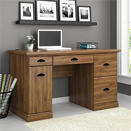 home office desk vintage design. Contemporary Desk Elegant Wooden Desk In Classic Vintage Design With Multiple Storage Drawers  And Trays Large Workstation Intended Home Office D