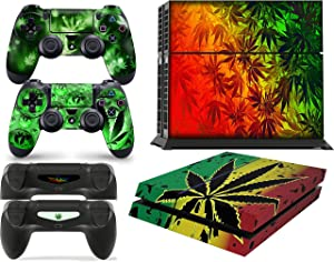 giZmoZ n gadgetZ PS4 Console Weed Skin Decal Vinal Sticker + 2 Controller Skins Set