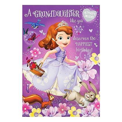 Hallmark Princesa Sofía Tarjeta de cumpleaños para nieta ...