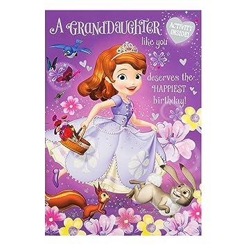 Hallmark Princess Sofia Granddaughter Birthday Card Colour In