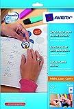 Avery E3613 - Paquete de etiquetas despegables, color blanco