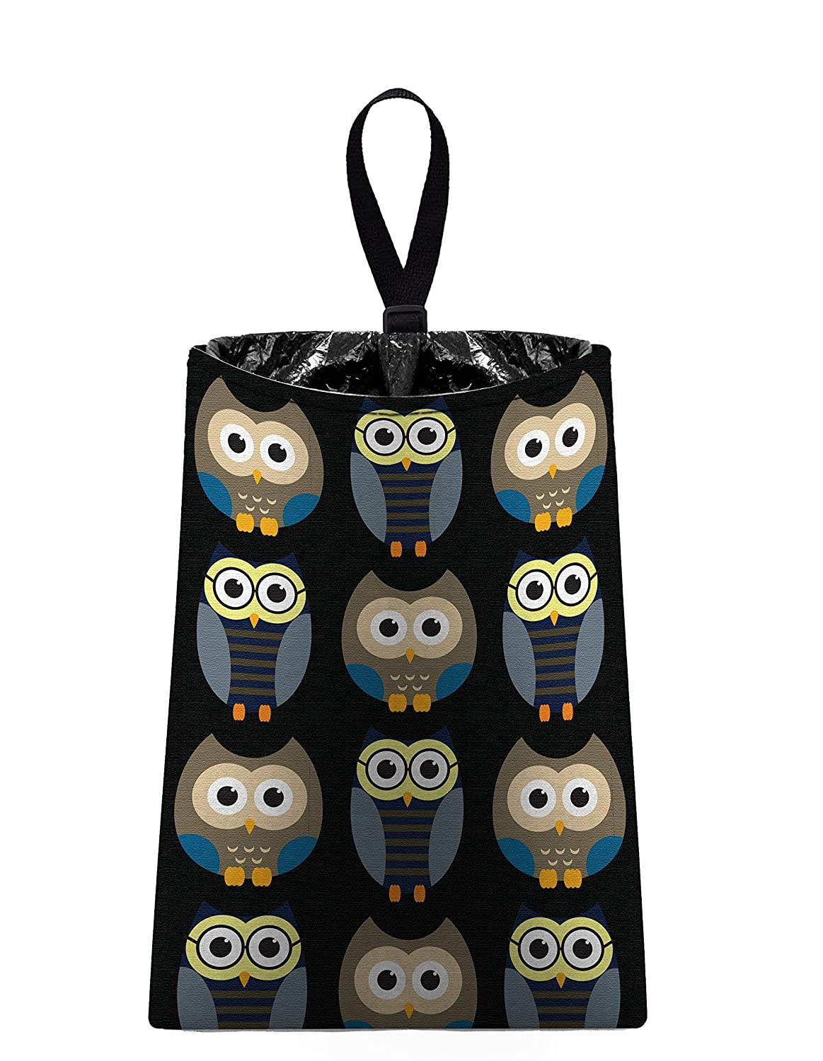 Auto Trash (Owls - Midnight) by The Mod Mobile - litter bag/garbage can for your car by The Mod Mobile   B004VY6MJO