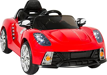 Best Choice Products Kids 12V Electric RC Ride On w/ 2 Speeds, LED Lights, MP3, AUX, Red