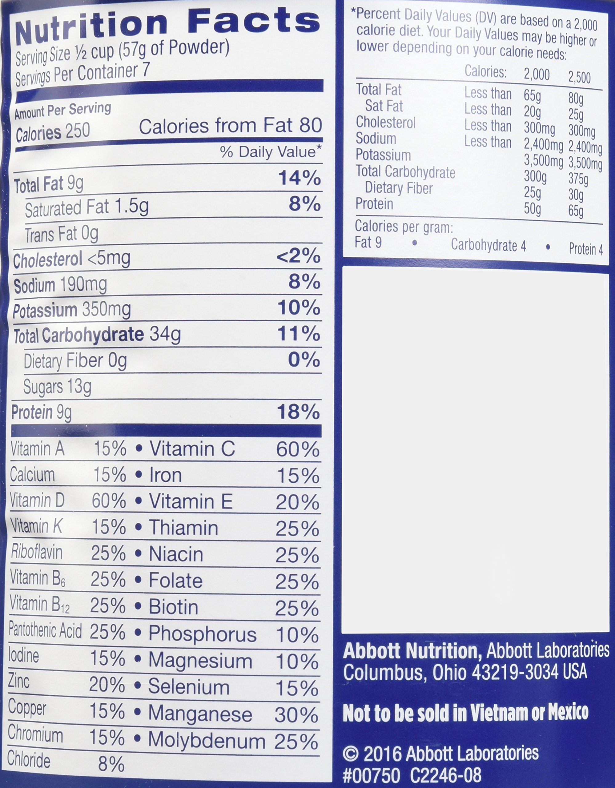 Ensure Original Nutrition Powder with 9 grams of protein, Meal Replacement, Vanilla, 14 oz, 6 count by Ensure (Image #3)