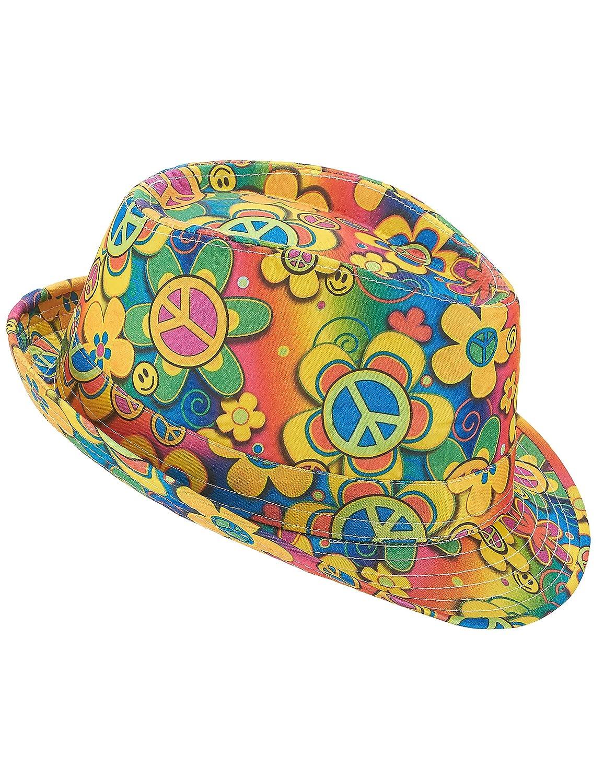 Chapeau Borsalino Hippie /à Fleurs Adulte Generique
