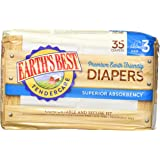 Chlorine Free Earth Friendly Disposable Diapers Size: Size 3- pack of 35