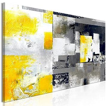 Tentures murales, tapis Toile Art de rose jaune photos noir ...