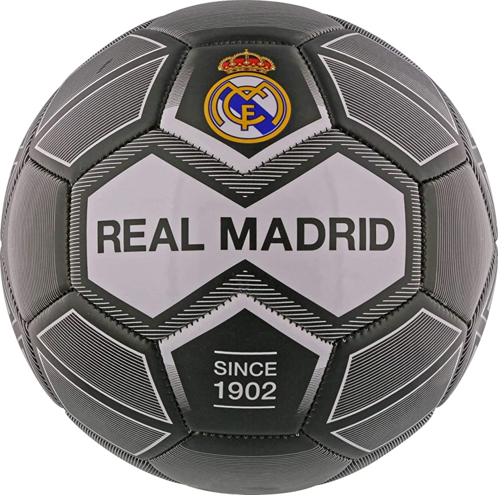 REALMADRID Real Madrid Balón de fútbol Unisex niños, Negro Talla 5 ...