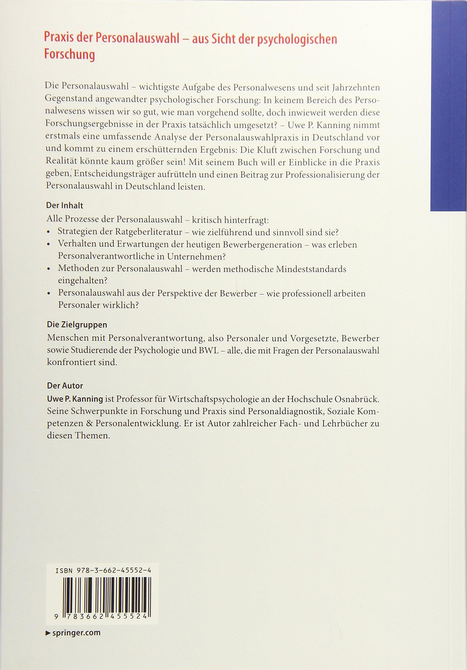 psychologische personalauswahl eignungsdiagnostik fur personalentscheidungen und berufsberatung wirtschaftspsychologie