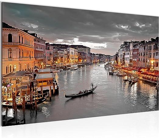 Venedig Italien 3 Bilder auf Leinwand  Romantisches Bild Wandbild Poster