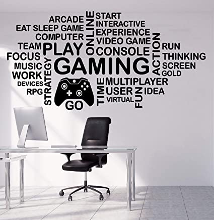 Amazon.com: Gamer Wall Decor for Boys Room - Gaming Decals ...