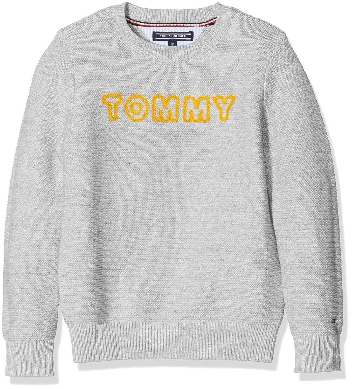 Tommy Hilfiger Boy's AME Logo Cn Sweater L/S Jumper KB0KB03668