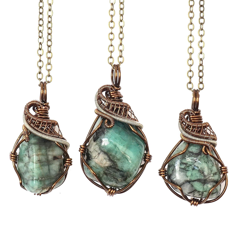 Custom Chain Men/'s Raw Garnet Crystal Necklace Wire Wrapped January Birthstone