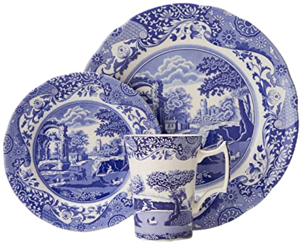 Blue And White Churchill Plate High Standard In Quality And Hygiene Pottery & Glass