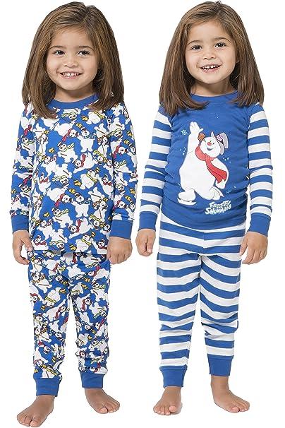 5c2cfab49db3 Intimo Unisex-Child Frosty The Snowman 4-Piece Pajama Set  Amazon.ca ...