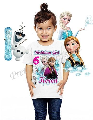 Frozen Birthday Shirt Girl Party Favor Elsa