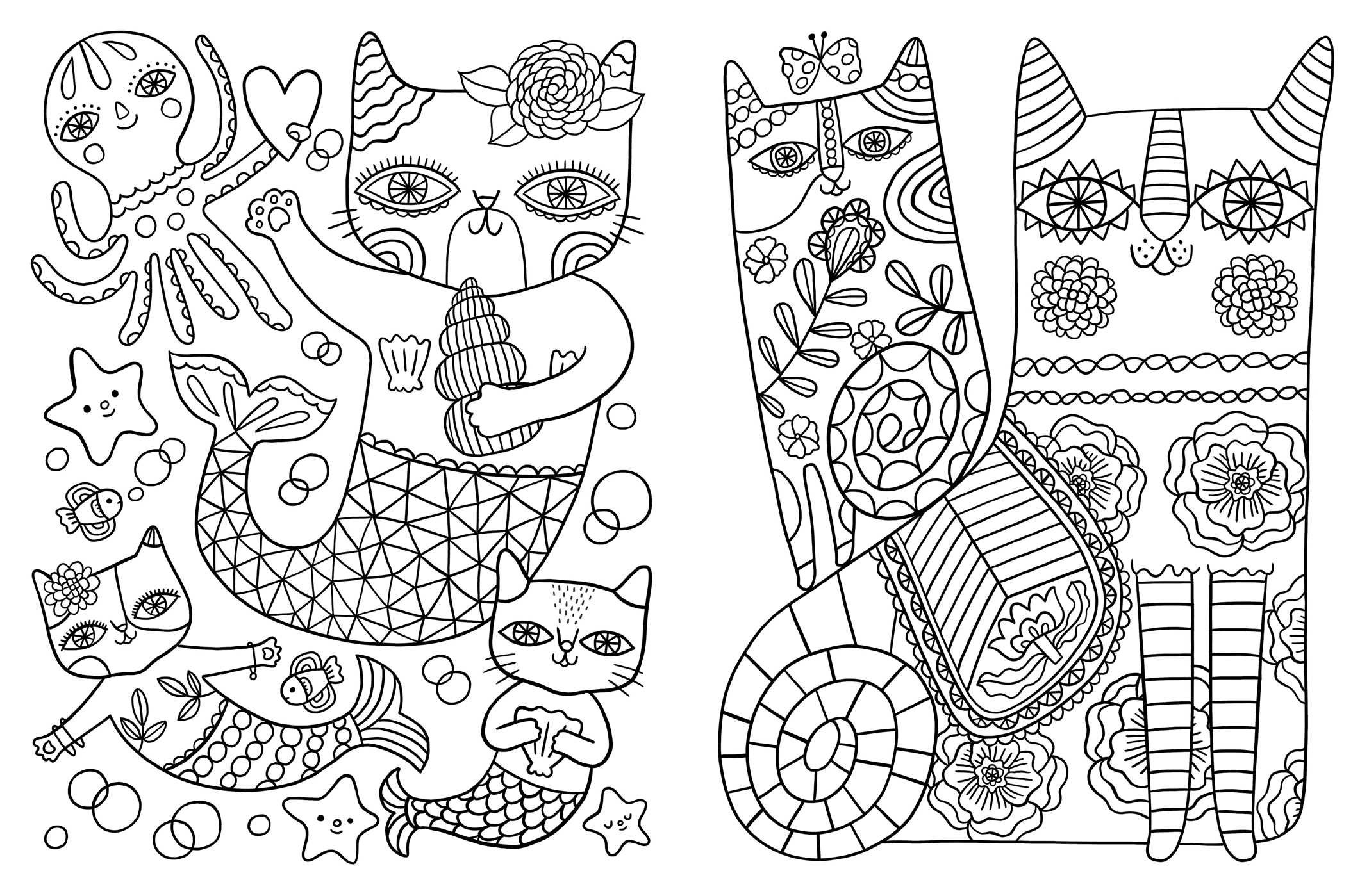 Amazon Posh Adult Coloring Book Cats Kittens for fort