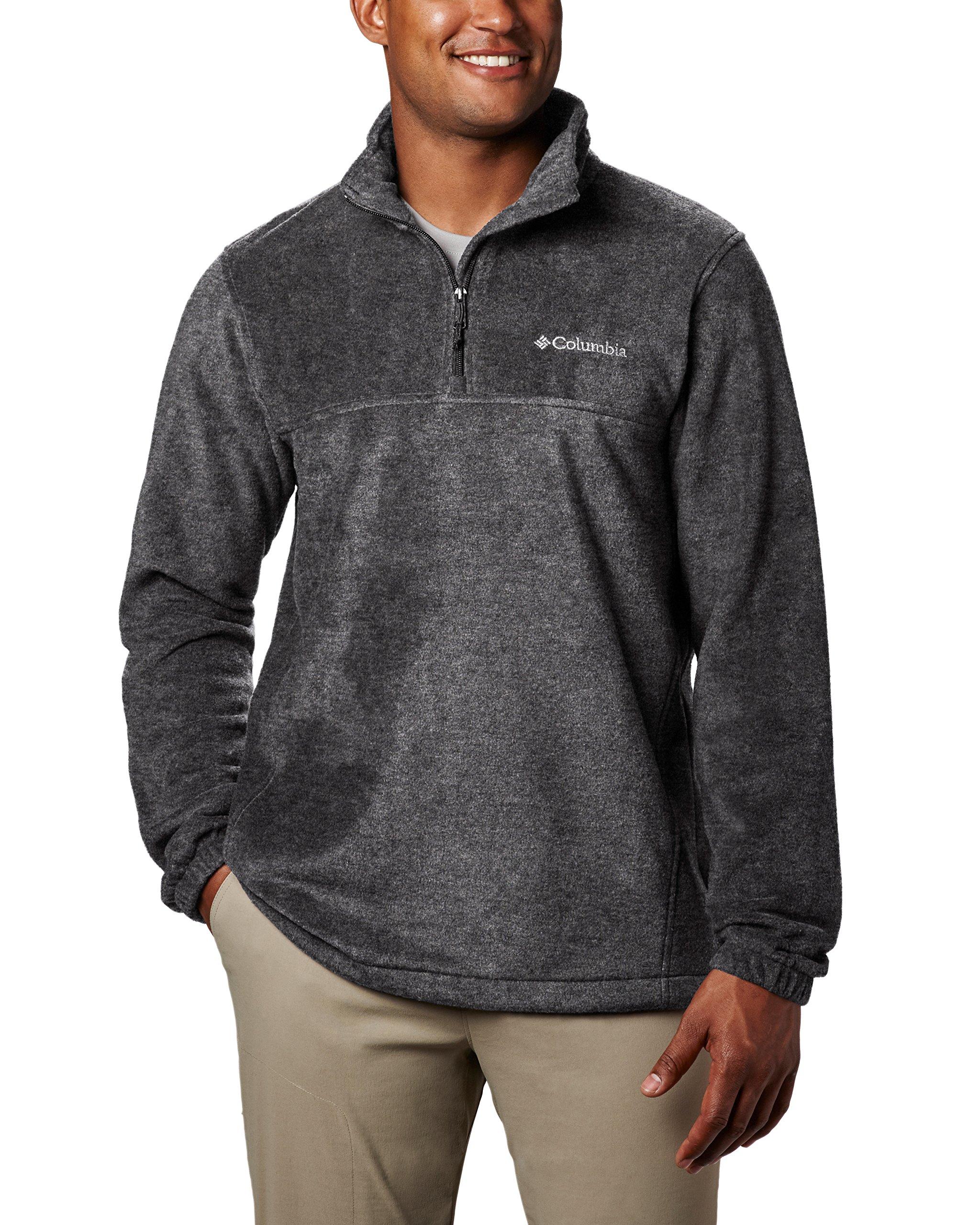 Columbia Men's Steens Mountain Half Zip Soft Fleece Jacket, Charcoal Heather, Medium by Columbia