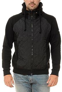 M.Conte Hombres sudadera con capucha chaqueta a cremallera Jersey gris Negro Azul M L XL XXL XXXL chaqueta con capucha Ricardo